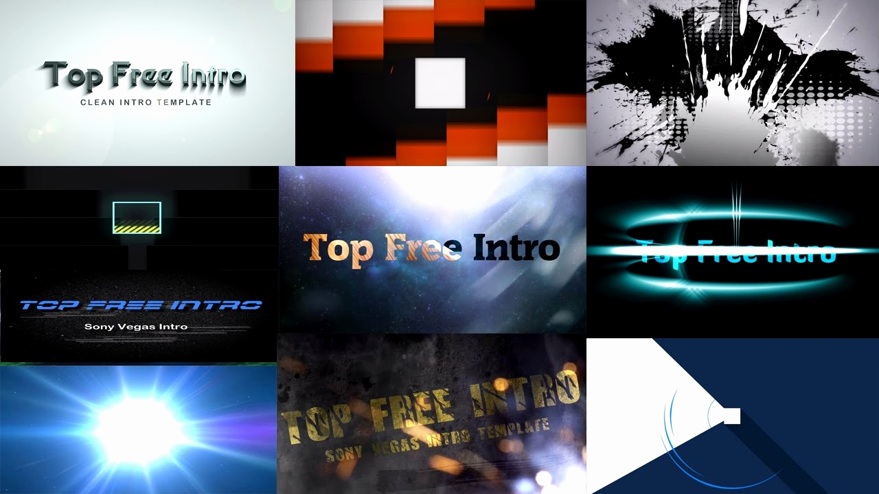 Free Intro Templates Download Elegant top 10 Intro Templates Free sony Vegas Pro 13 Download