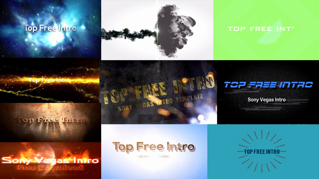 "Free Intro Templates Download New top 10 Free Intro Templates ""sony Vegas Intro Template"