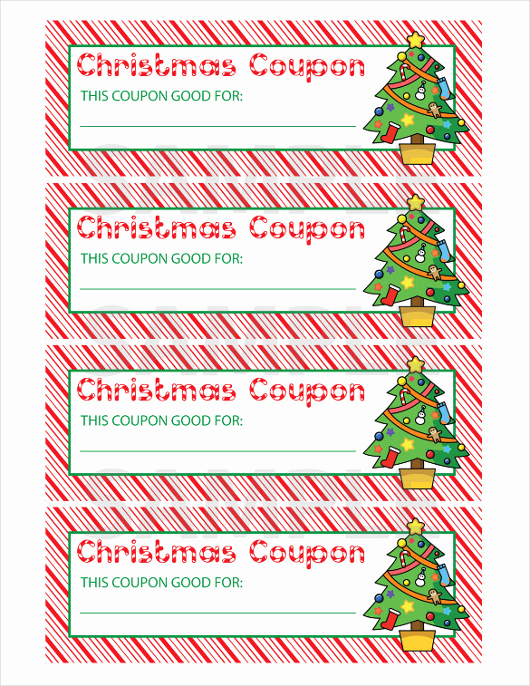 Free Printable Coupon Template Blank Beautiful 35 Christmas Coupon Templates Psd Doc Apple Pages