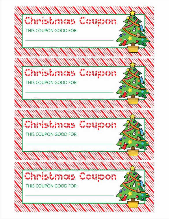Free Printable Coupon Template Blank Beautiful 35 Christmas Coupon Templates Psd Doc Apple Pages