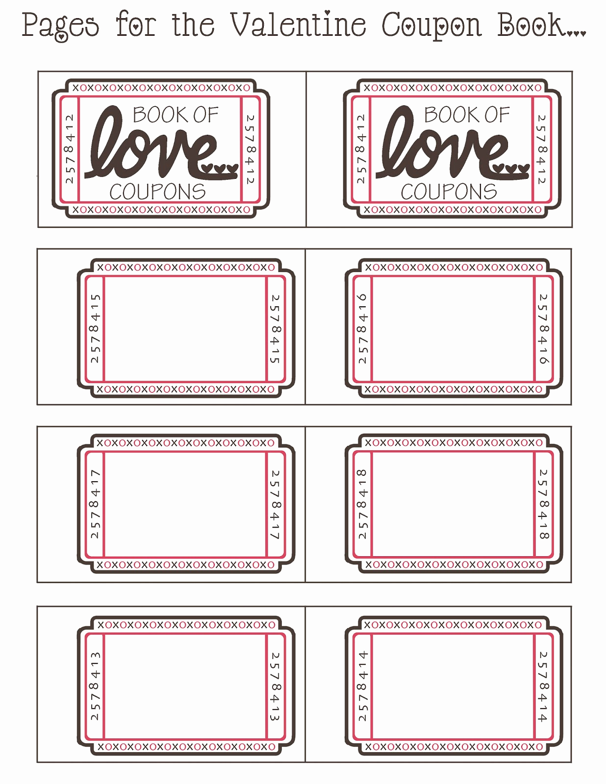 Free Printable Coupon Template Blank Beautiful Mommy by Day Crafter by Night Free Printable Valentine