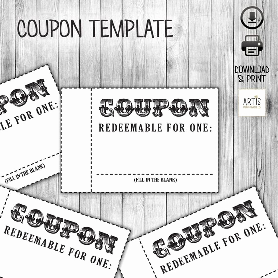 Free Printable Coupon Template Blank Best Of Coupon Book Coupon for Game Empty Love Coupon Date Diy