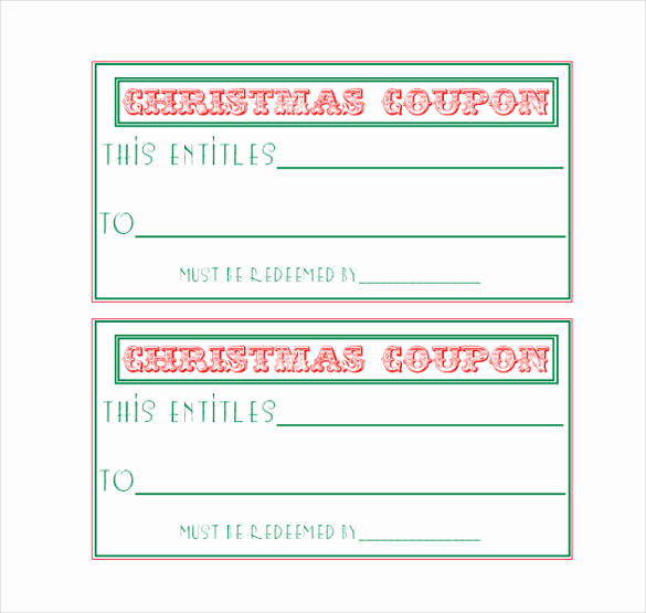 Free Printable Coupon Template Blank Elegant Homemade Coupon Templates – 23 Free Pdf format Download