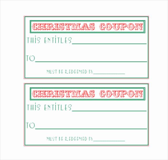 Free Printable Coupon Template Blank Elegant Homemade Coupon Templates – 23 Free Pdf format Download