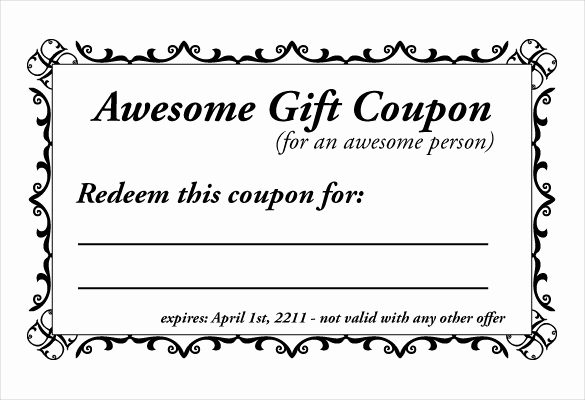 Free Printable Coupon Template Blank Fresh Homemade Coupon Templates – 23 Free Pdf format Download