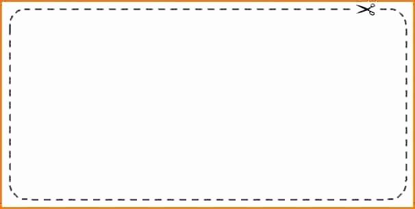 Free Printable Coupon Template Blank Inspirational Coupon Cut Out Template Printable Blank Coupons – Ooojo