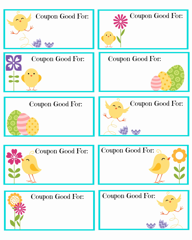 Free Printable Coupon Template Blank Inspirational Free Printable Easter Coupons