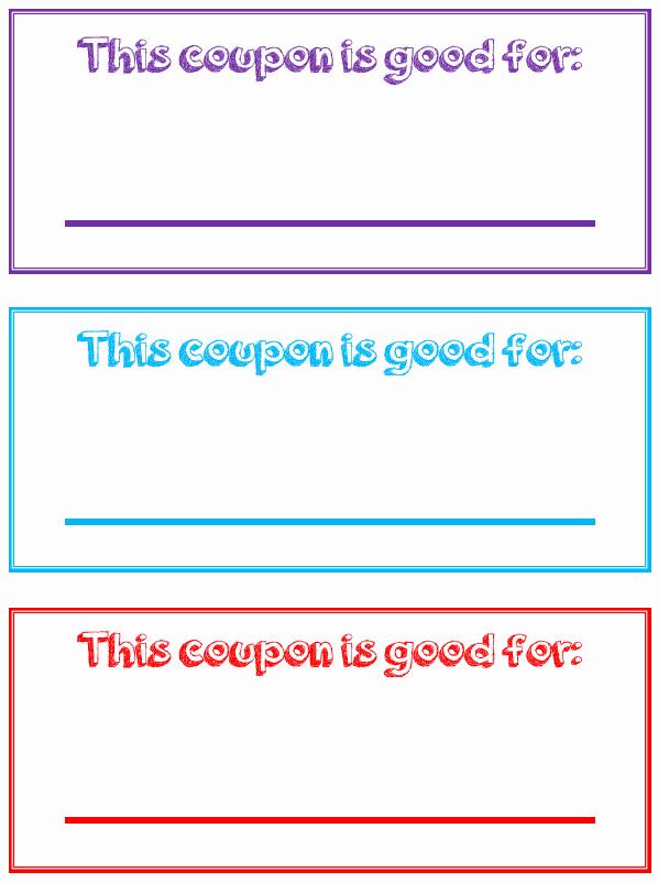 Free Printable Coupon Template Blank Inspirational Printable Reward Coupons for Kids
