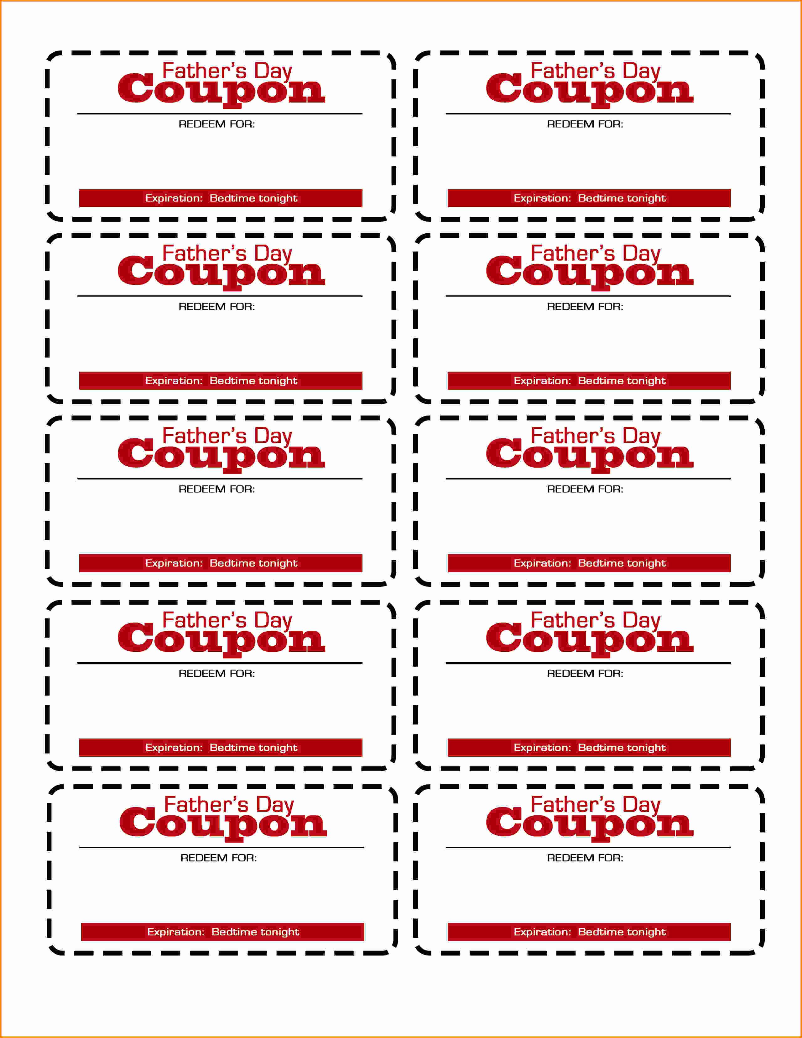Free Printable Coupon Template Blank Inspirational Template Coupon Template