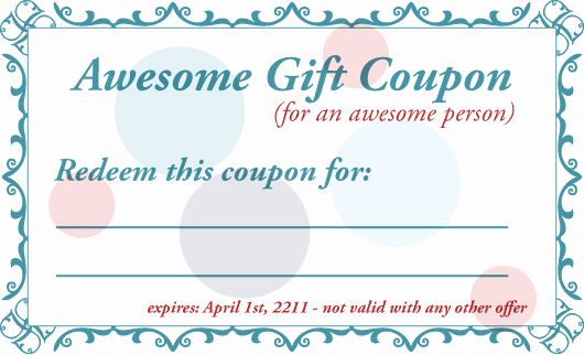 Free Printable Coupon Template Blank Lovely 8 Best Of Printable Babysitting Voucher Template