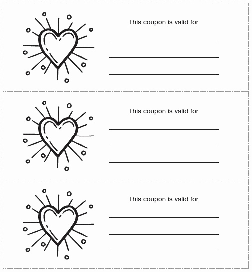 Free Printable Coupon Template Blank Lovely Blank Coupon Template 8 Printable Samples