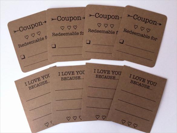 Free Printable Coupon Template Blank Luxury 25 Love Coupon Templates Free Sample Example format