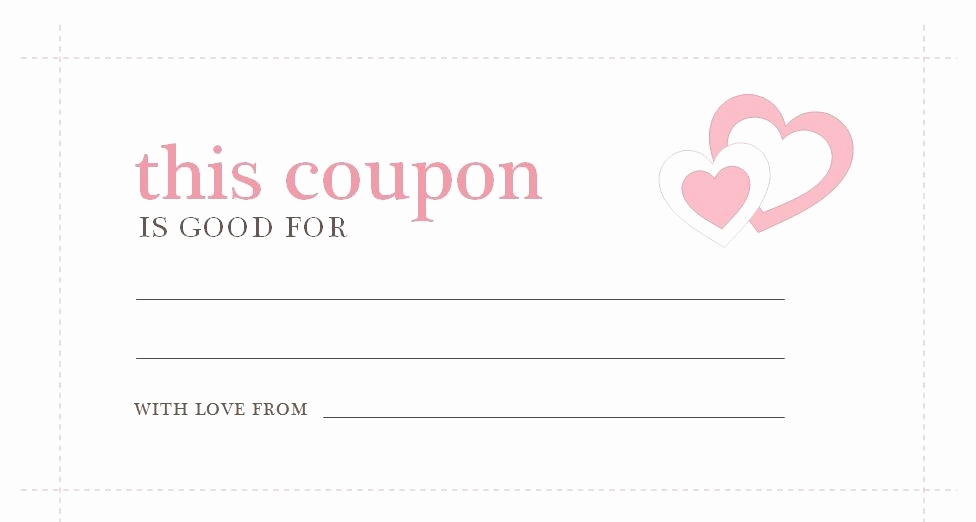 Free Printable Coupon Template Blank Luxury Love Coupon Template Microsoft Word