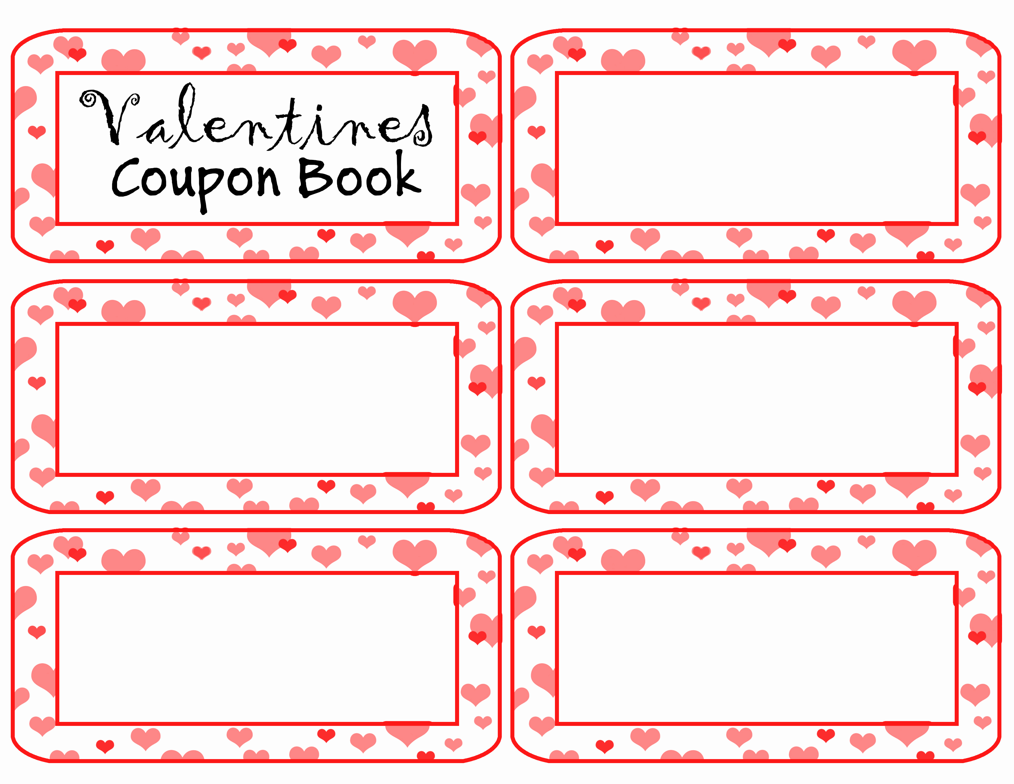 Free Printable Coupon Template Blank New Coupon Book Template