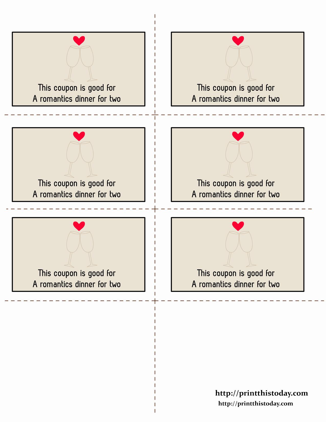 Free Printable Coupon Template Blank New Free Printable Love Coupons