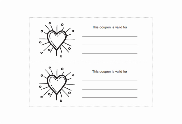Free Printable Coupon Template Blank Unique Homemade Coupon Templates – 23 Free Pdf format Download