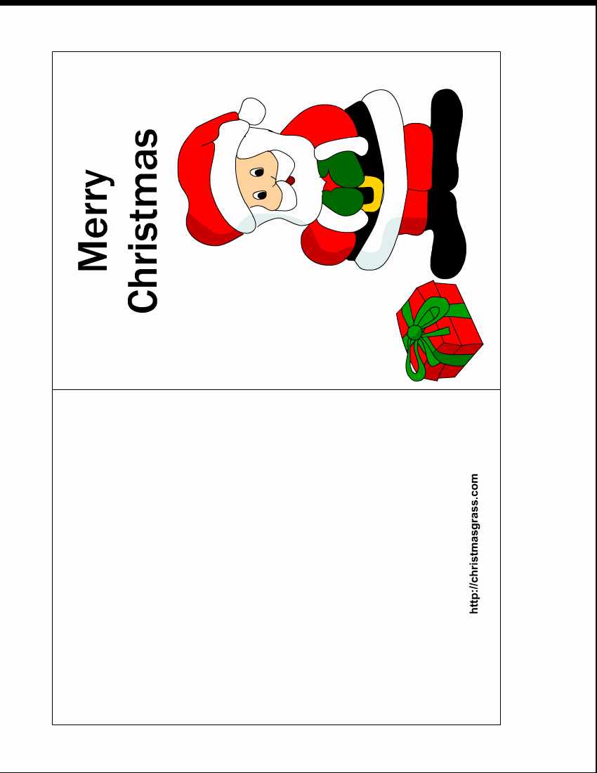 Free Printable Photo Cards Templates Best Of Free Printable Christmas Card with Charming Santa