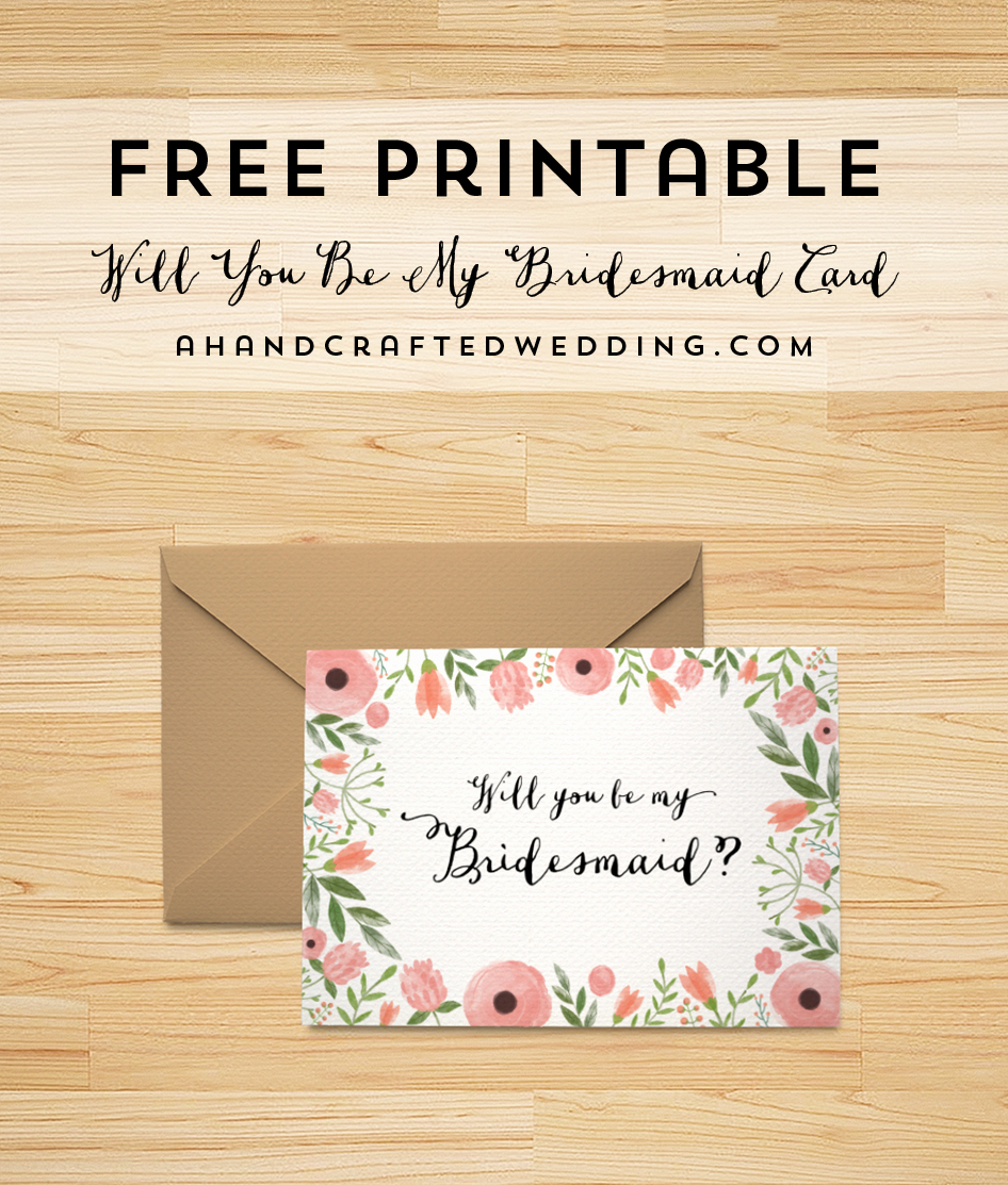 Free Printable Photo Cards Templates Elegant Bridesmaid Cards On Pinterest