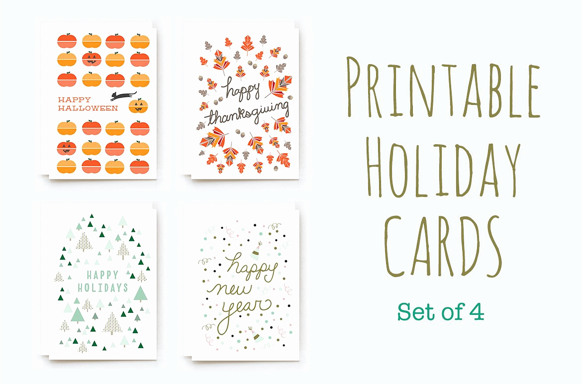 Free Printable Photo Cards Templates Fresh Printable Winter Holiday Cards Card Templates Creative