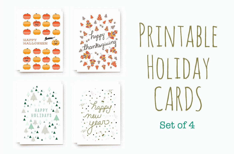 Free Printable Photo Cards Templates Fresh Printable Winter Holiday Cards Card Templates Creative