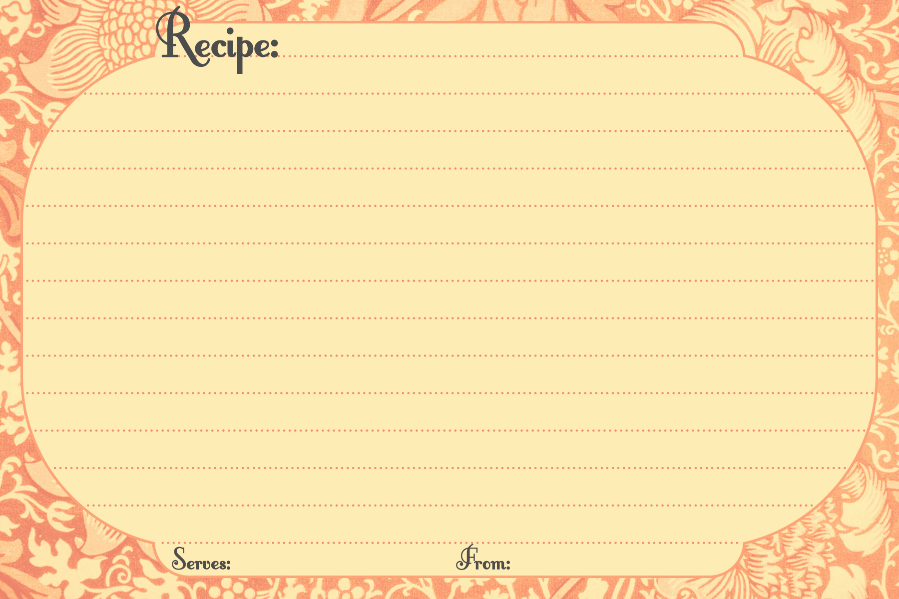 Free Printable Photo Cards Templates New Free Printable Recipe Cards