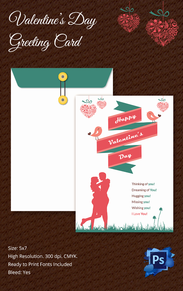 Free Printable Photo Cards Templates Unique 60 Happy Valentines Day Cards Psd Designs