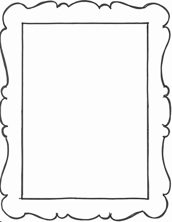 Free Printable Picture Frame Templates Awesome Add A Few Frame Outlines to the Art Notebook Party Favors