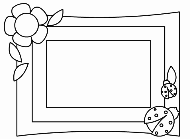 Free Printable Picture Frame Templates Awesome Flower Picture Frame Coloring Page Coloring Page & Book