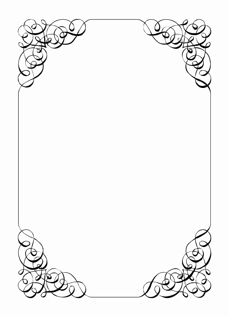 Free Printable Picture Frame Templates Awesome Free Vintage Clip Art Images Calligraphic Frames and Borders