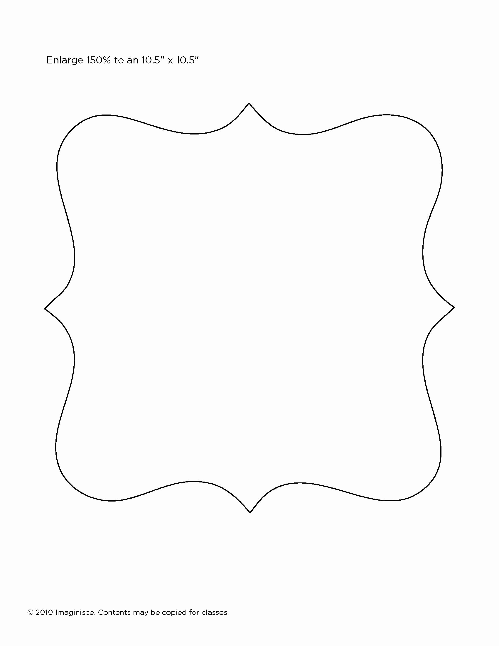 Free Printable Picture Frame Templates Beautiful 30 Of Fancy Frame Shape Template