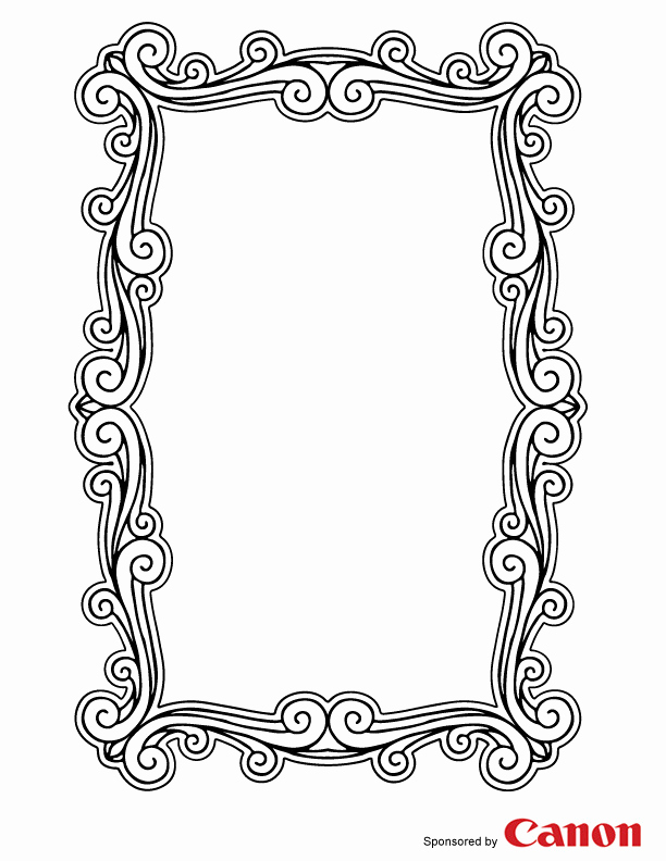 Free Printable Picture Frame Templates Beautiful 7 Best Of Printable to Color Picture Frames Frame