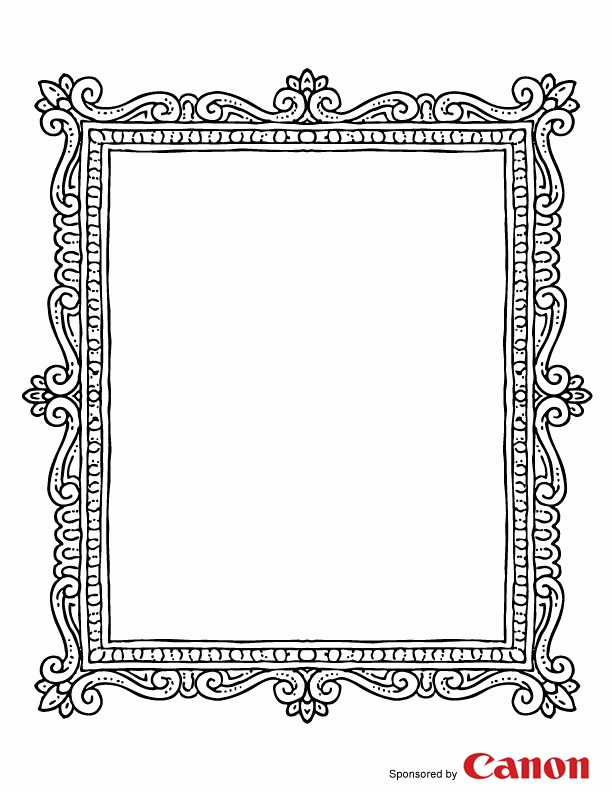 Free Printable Picture Frame Templates Beautiful Frame 2 Free Printable Coloring Pages