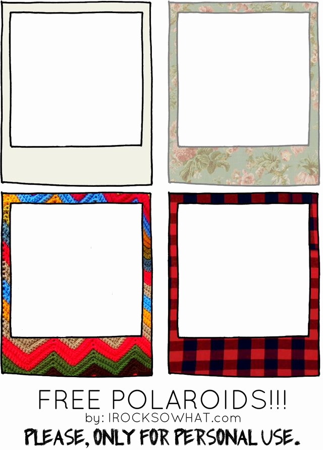 Free Printable Picture Frame Templates Best Of Blog Freebies Free Polaroid Frames From