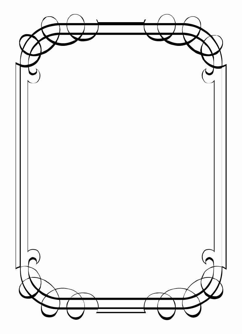 Free Printable Picture Frame Templates Fresh Free Vintage Clip Art Images Calligraphic Frames and Borders