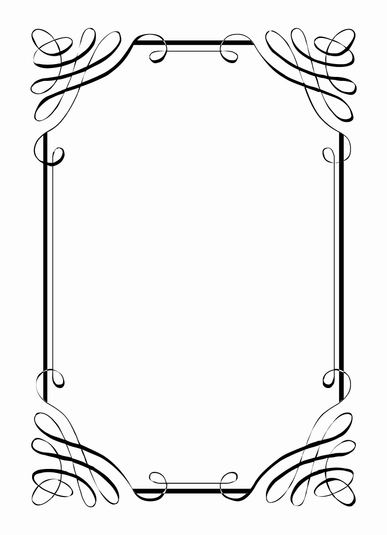 Free Printable Picture Frame Templates Lovely Free Vintage Clip Art Images Calligraphic Frames and Borders