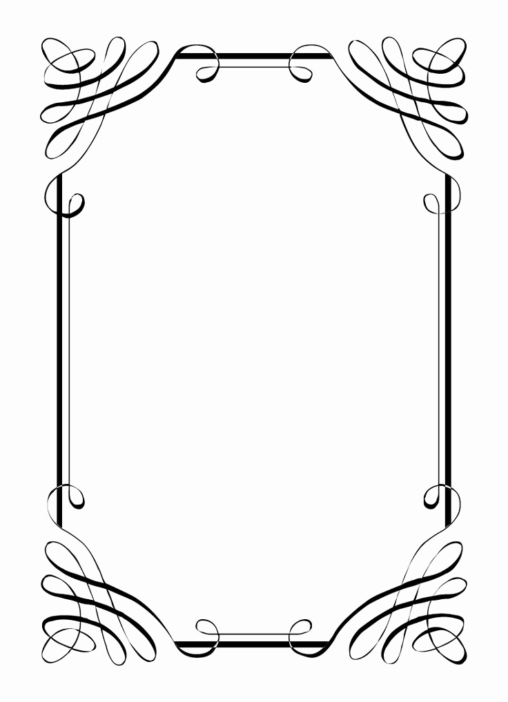 Free Printable Picture Frame Templates Luxury Best 25 Border Templates Ideas On Pinterest