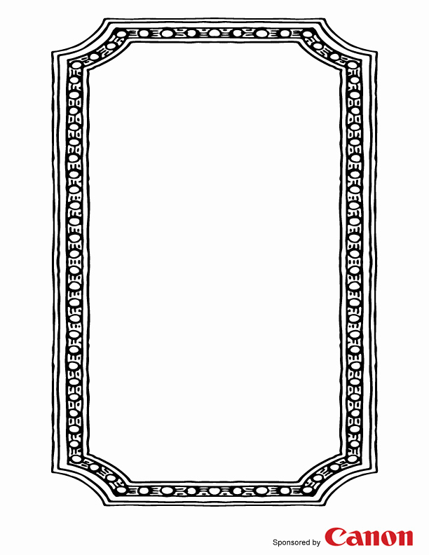 Free Printable Picture Frame Templates New Free Template Frame for Kids