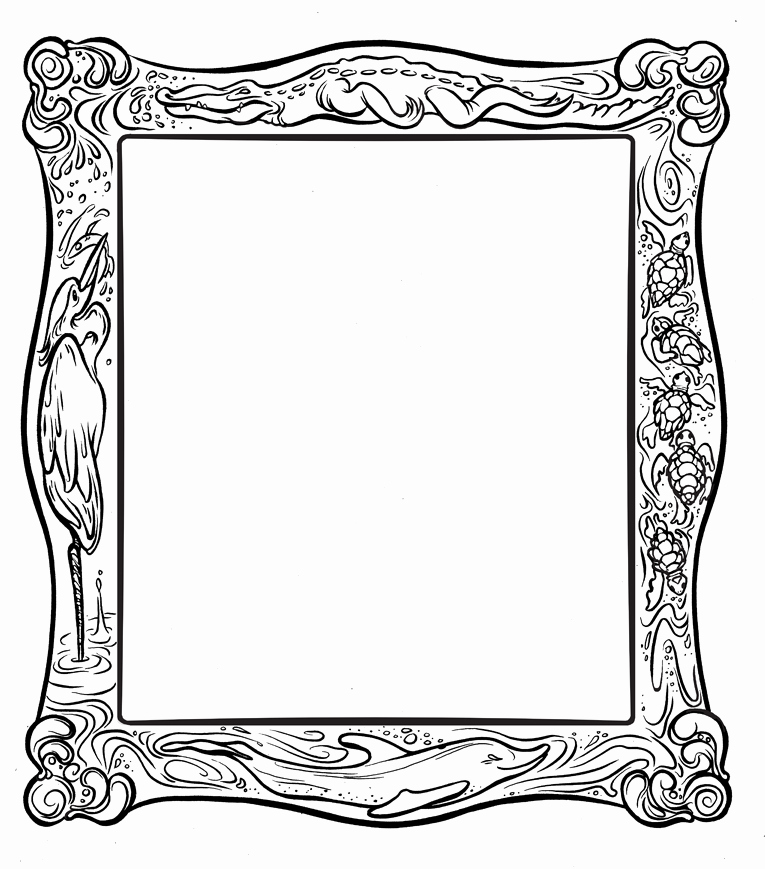 Free Printable Picture Frame Templates Unique 6 Best Of Frames Coloring Pages Printable Frame