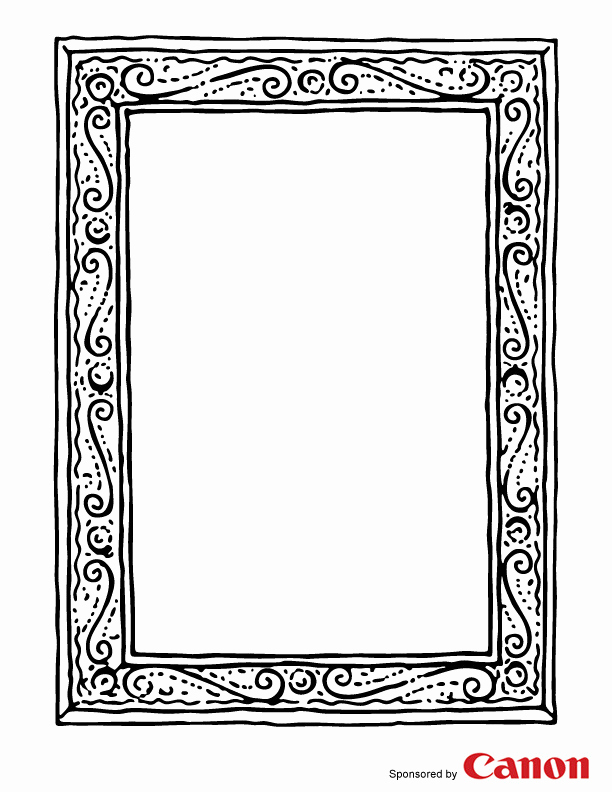 Free Printable Picture Frame Templates Unique 8 Best Of Picture Frame Template Printable