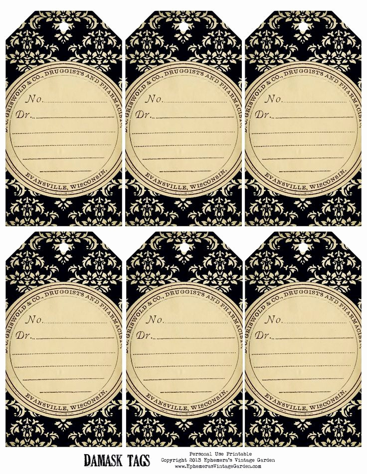 Free Printable Price Tags Template Awesome 171 Best Etiquettes Vierges N&b Images On Pinterest