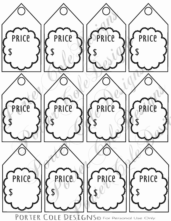 Free Printable Price Tags Template Inspirational Price Tags Printable Digital File