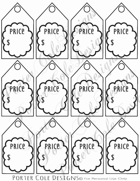 Free Printable Price Tags Template Inspirational Price Tags Printable Digital File