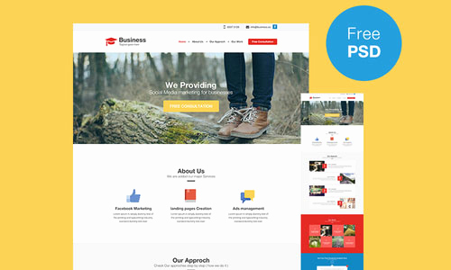 Free Professional Website Templates Beautiful Professional Business Website Template Free Psd