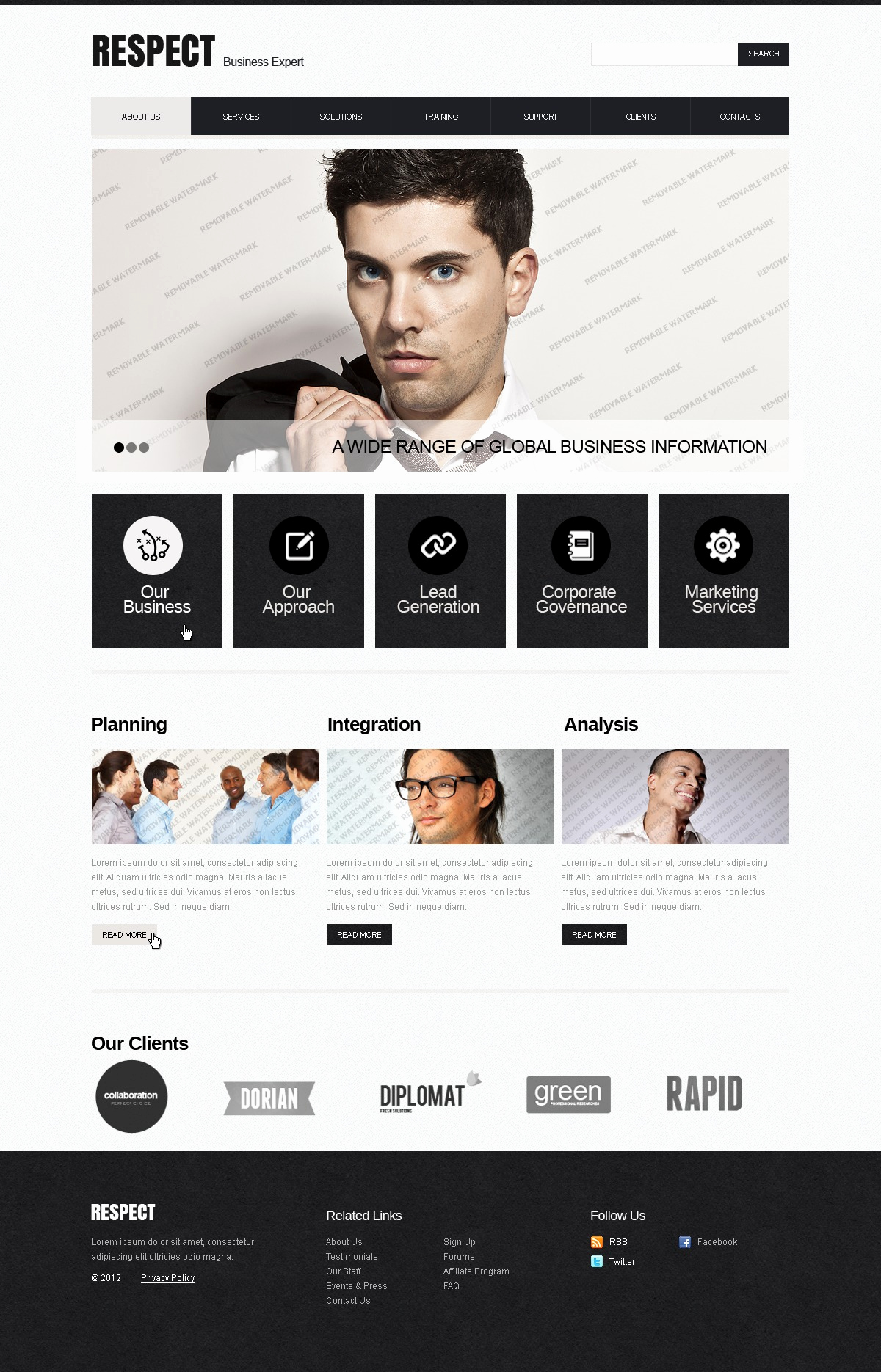 free pro website template