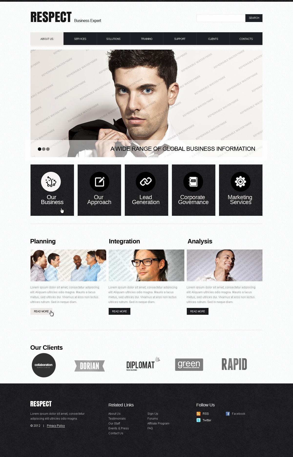 free pro website template