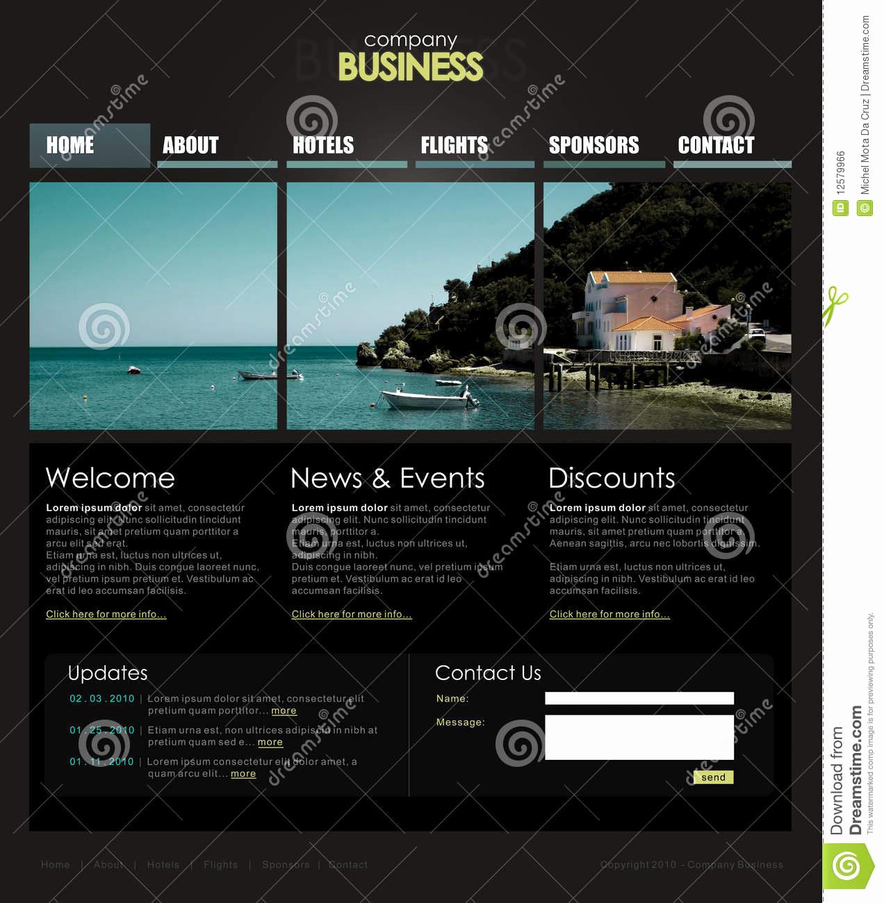 Free Professional Website Templates Elegant Professional Website Template Stock Vector Illustration
