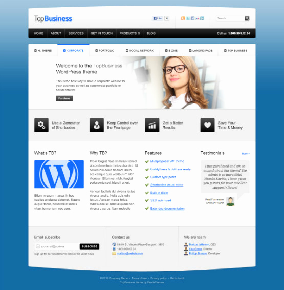 Free Professional Website Templates Fresh 40 Free Professional Psd Website Templates for Download