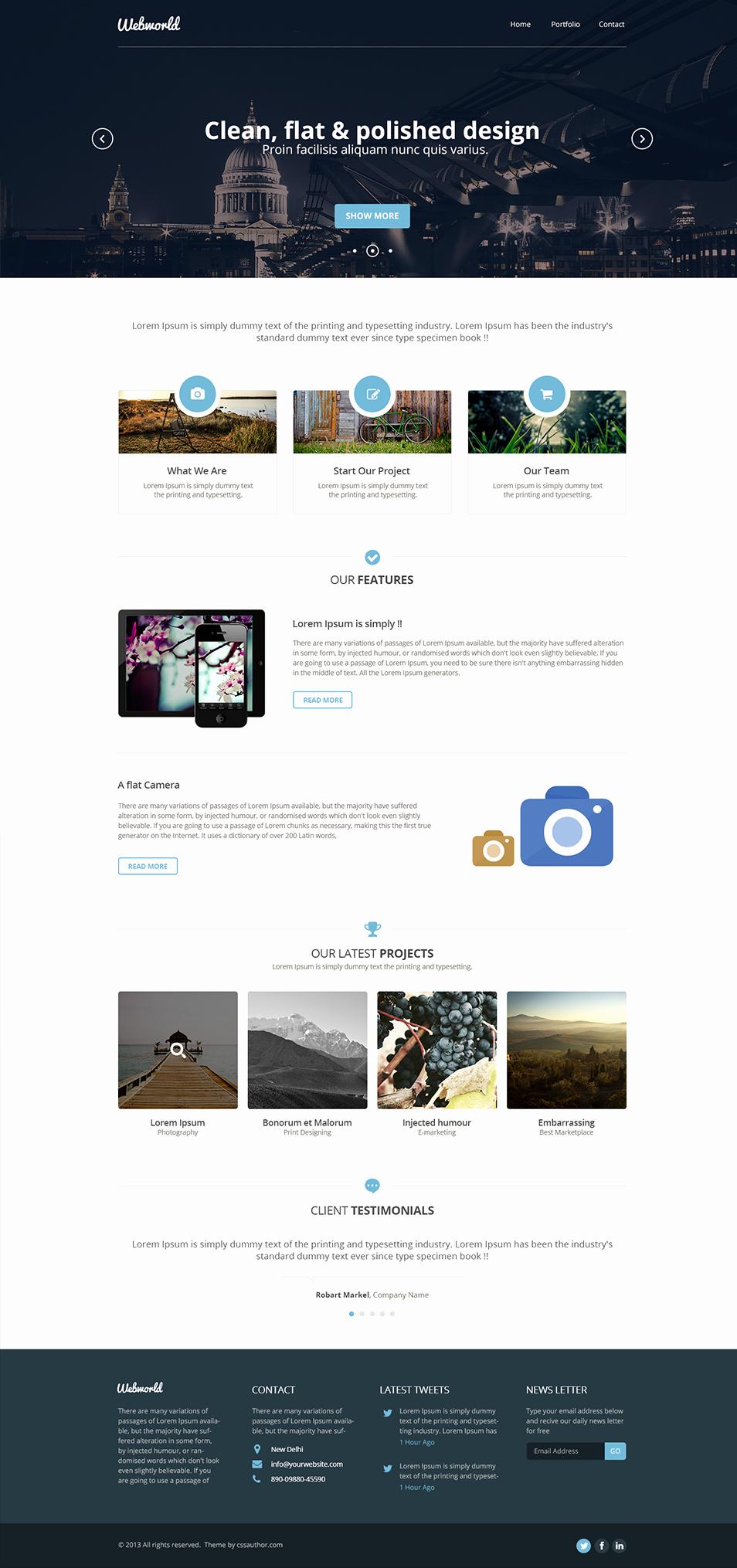 Free Professional Website Templates Fresh Professional Free Corporate Web Design Template