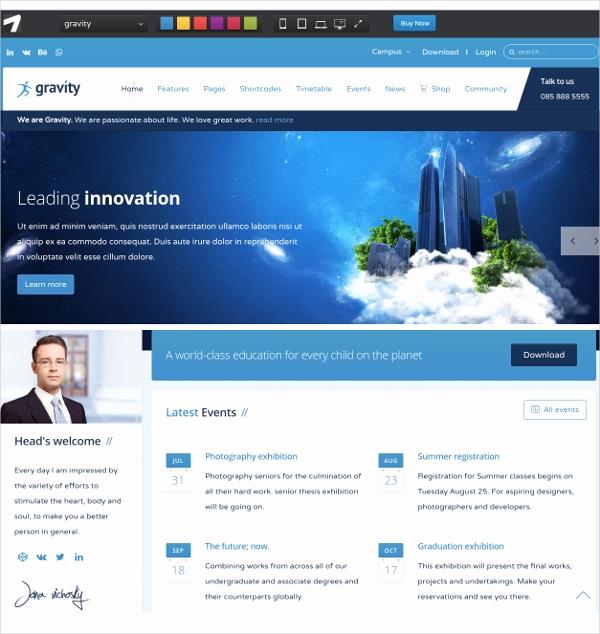 Free Professional Website Templates Inspirational 16 School Website themes & Templates