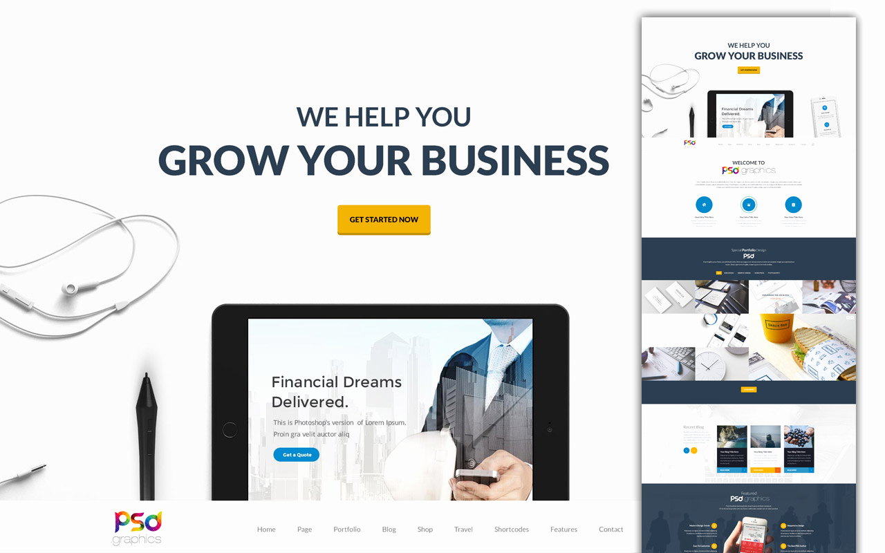 Free Professional Website Templates Inspirational Professional Business Website Template Free Psd